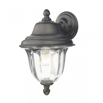 Dar ALD1635 Aldgate Wall Light Outdoor Black Gold