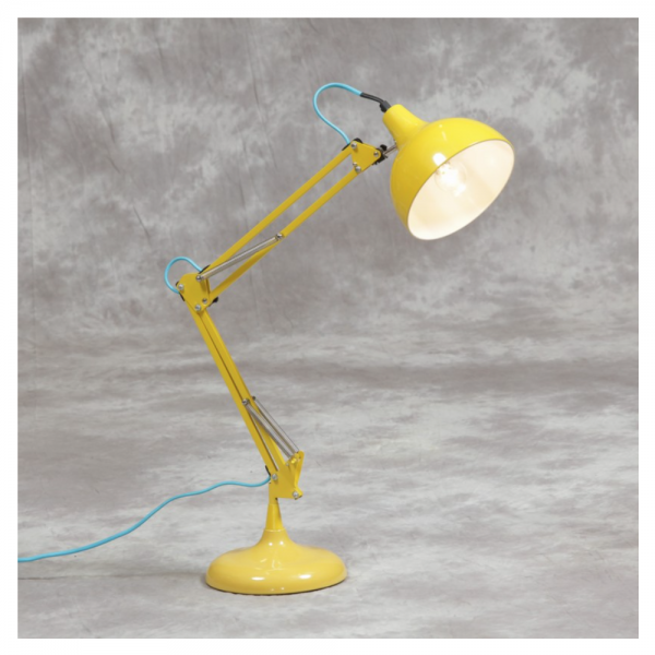 6736c33db021 Love 4 Lighting MG011 Yellow Traditional Large Desk Lamp with Blue Fabric  Flex at Love4Lighting.