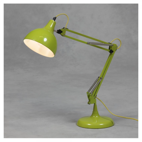 b69a920c5a5a Love 4 Lighting MG014 Lime Green Traditional Large Desk Lamp with Yellow  Fabric Flex at Love4Lighting.
