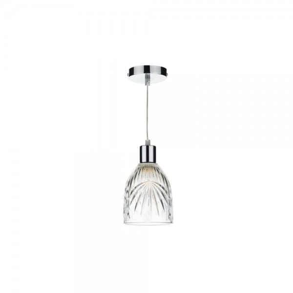 Dar MOT6508 Motif Clear Pendant Light