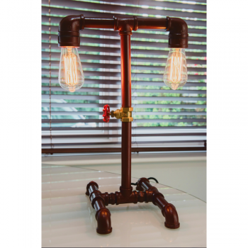 Locomocean PIPE-T Copper Lamp Double Arm