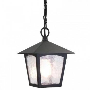Elstead Lighting York Bl6B Black Porcchain Exterior Lantern