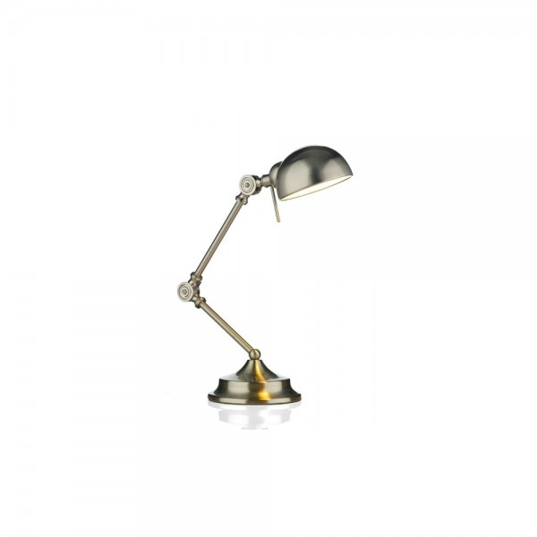 Dar RAN4046 Ranger Satin Chrome Table Lamp