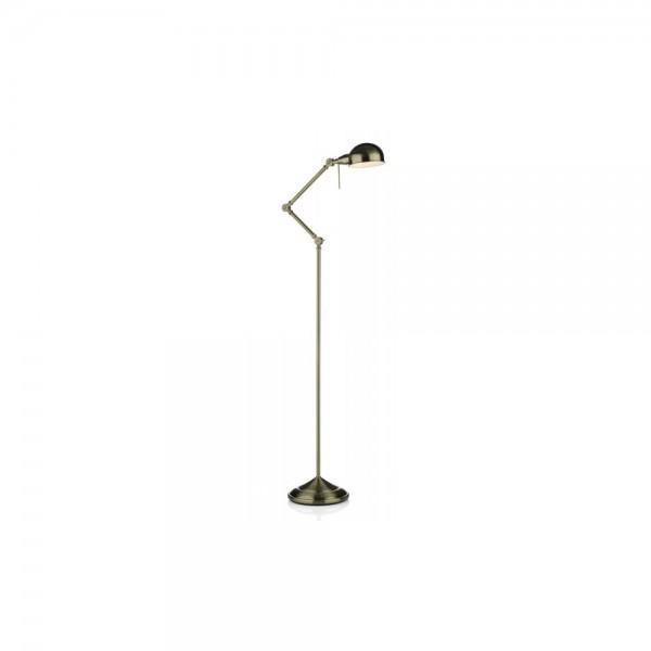 Dar RAN4975 Ranger Antique Brass Floor Lamp