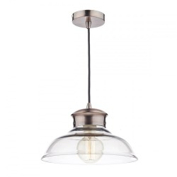 Dar SIR0164 Siren 1 Light Glass and Copper Pendant