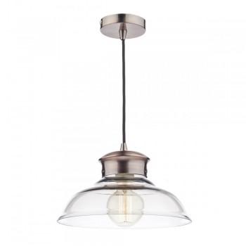 Dar SIR0164 Siren 1 Light Glass and Copper Pendant