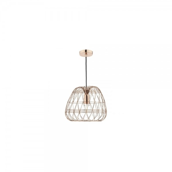 Dar WOV0164 Woven 1 Light Copper Pendant