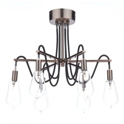Dar SCR0664 Scroll 6 Light Semi Flush Copper Light