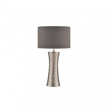 Dar Lighting BOK4232/X Bokara Table Lamp Silver complete with Shade