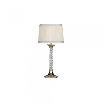 Dar WAS4238 Washington Polished Nickel Table Lamp complete with Shade
