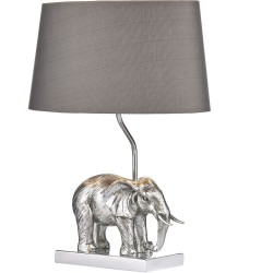 Dar Lighting ENR4232/X Enrique Table Lamp Silver complete with Shade