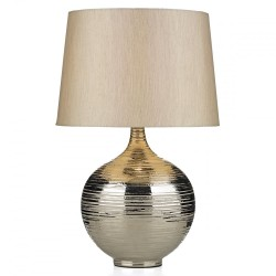 Dar Lighting GUS4332 Gustav Table Lamp Large Silver complete with Silver Shade