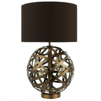 Dar Lighting VOY4264 Voyage TL Woven Antique Copper Ball with Matching Lined Shade
