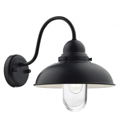 Dar Lighting DYN0722 Dynamo 1 Light external Wall Bracket Matt Black IP44