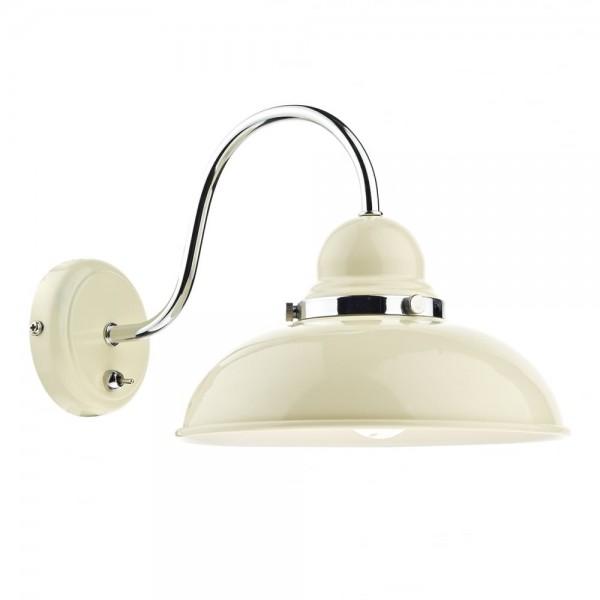 Dar Lighting DYN0733 Dynamo 1 Light Wall Bracket Cream