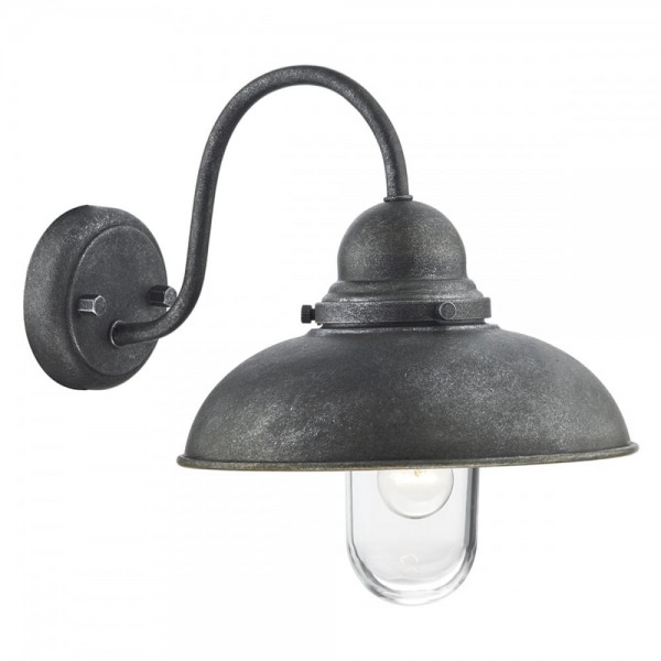 Dar Lighting DYN0737 Dynamo 1 Light Wall Bracket Aged Iron IP44