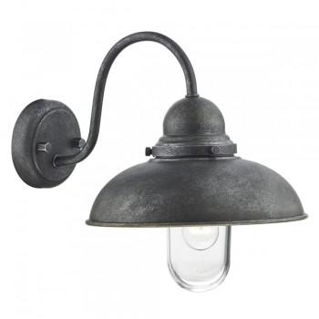 Dar Lighting DYN0737 Dynamo 1 Light Wall Bracket Aged Iron IP44