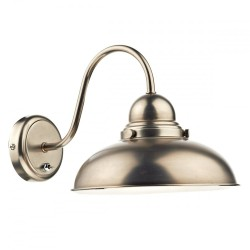 Dar Lighting DYN0761 Dynamo 1 Light Wall Bracket Antique Chrome