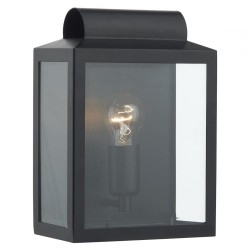 Dar Lighting NOT2122 Notary Rectangle Wall Bracket Black IP44
