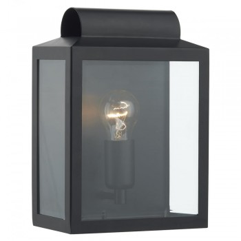 Dar Lighting NOT2122 Notary Rectangle Wall Bracket Black IP44
