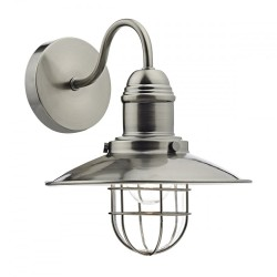 Dar Lighting TER0761 Terrace Single Wall Bracket Antique Chrome