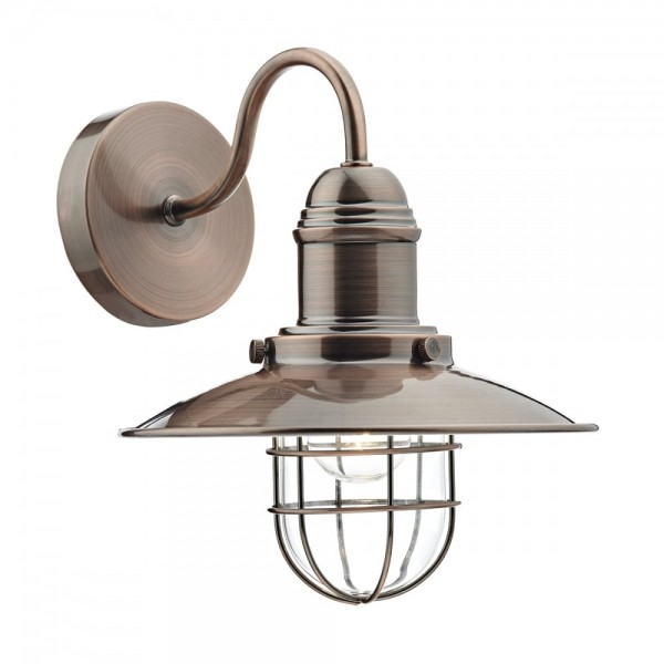 Dar Lighting TER0764 Terrace Single Wall Bracket Copper