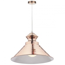 Dar Lighting DAU0164 Dauphine 1 Light Pendant Copper