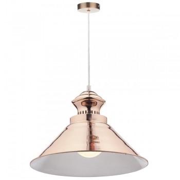 Dar Lighting DAU0164 Dauphine 1 Light Pendant Copper