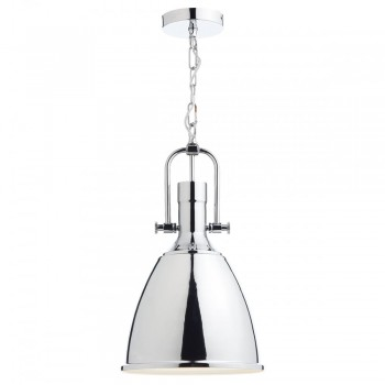 Dar Lighting NOL0150 Nolan 1 Light Pendant Polished Chrome