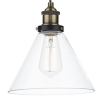 Dar Lighting RAY0175 Ray 1 Light Pendant Antique Brass Clear