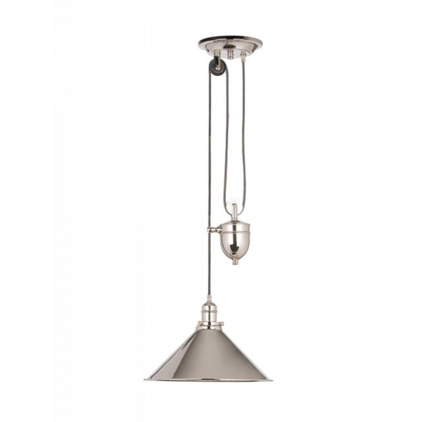 Elstead Lighting Provence Rise and Fall Polished Nickel Pendant