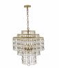 Dar Lighting VAY0308 Vayla 3lt Pendant Crystal & Bronze