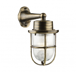 David Hunt HAR1575 Harbour Antique Brass Exterior Wall Light