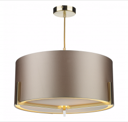 The Light Shade Studio HUX0335-18 Huxley 3 Light Pendant Gold