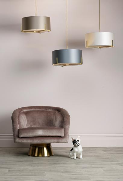 The Light Shade Studio HUX0335-18 Huxley 3 Light Pendant Gold