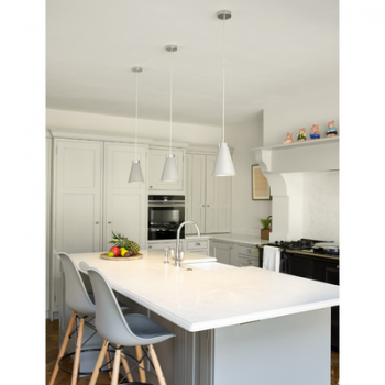 David Hunt Hyde HYD01 1-Light Pendant Polished Chrome in Arctic White