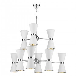 David Hunt Hyde HYD18 18-Light Pendant Polished Chrome in Arctic White
