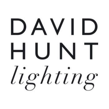 David Hunt HYD01 Hyde Single Pendant In Polished Chrome With Black Metal Shade