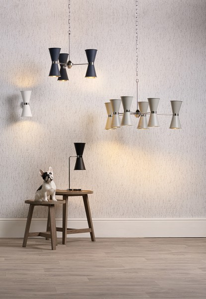 David Hunt HYD12 Hyde 12 Light Pendant Brass Comes With Smoke Blue Metal Shade