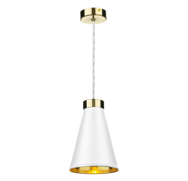 David Hunt HYD01 Hyde 1 Light Pendant Brass Comes With Arctic White Metal Shade