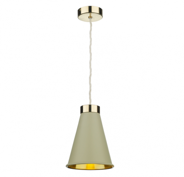 David Hunt HYD01 Hyde 1 Light Pendant Brass Comes With Pebble Metal Shade