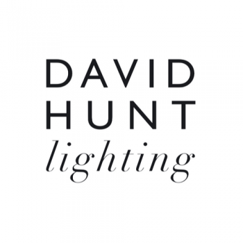David Hunt HYD09 Double Wall Light Polished Brass Comes With Smoke Blue Metal Shade