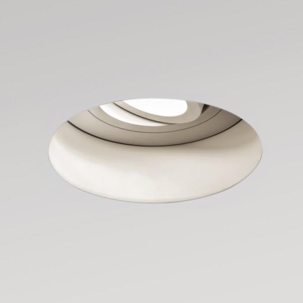 Astro Trimless Round GU10 White Adjustable Downlight
