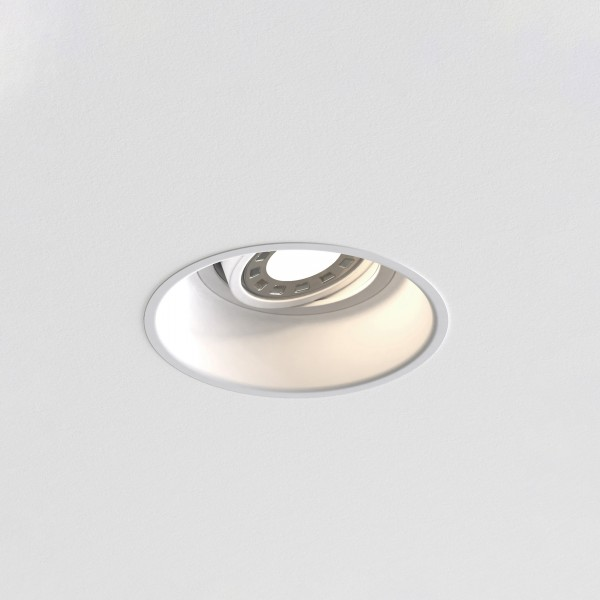 Astro Minima Round GU10 White Fire-Rated Adjustable Downlight