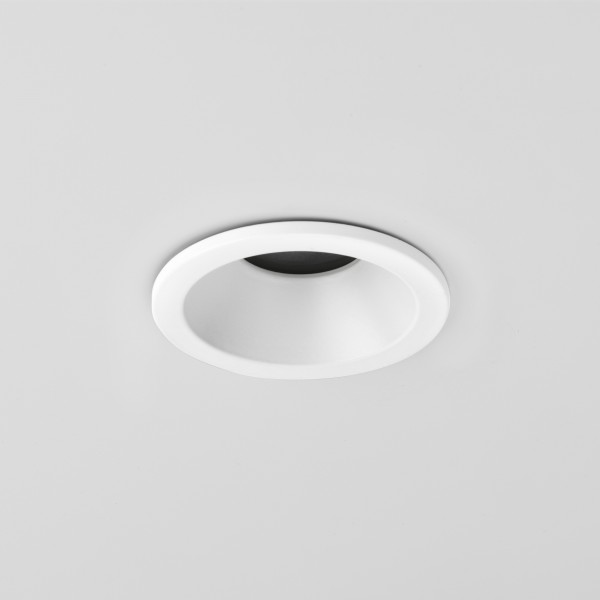 Astro Minima IP65 Round GU10 White Bathroom Downlight