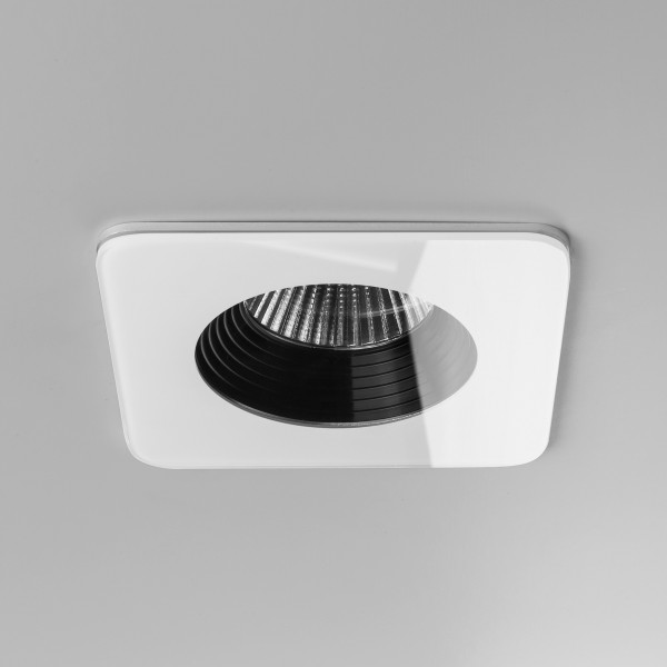 Astro Vetro Square White Fire-Rated Bathroom LED Downlight