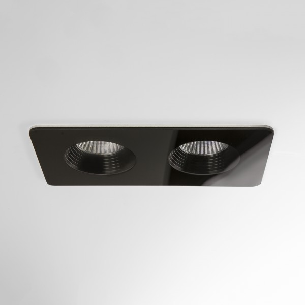 Astro Vetro Twin Black Bathroom LED Downlight