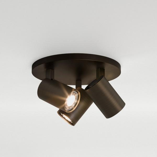 Astro Ascoli Triple Round Bronze Spotlight