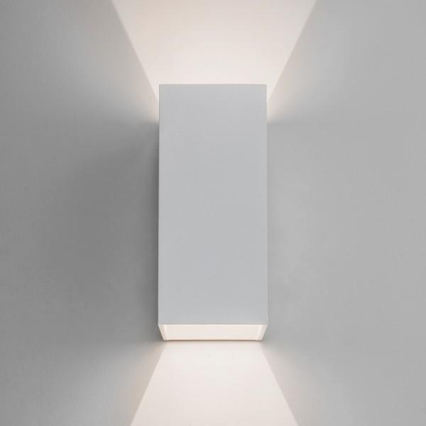 Astro Oslo 160 White Outdoor LED Wall Light