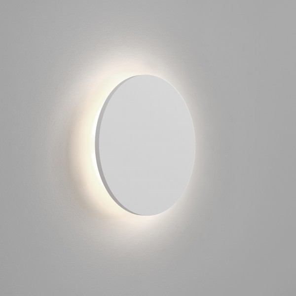Astro Eclipse 350 Round 3000K Plaster LED Wall Light